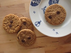 Vegan and gluten free chocolate chip cookies