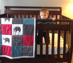 Max with his Elephant Quilt