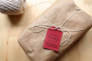 Packaged and lablled for a gift